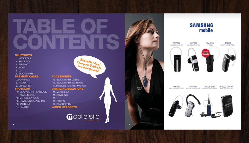 Mobileistic Table of Contents Design