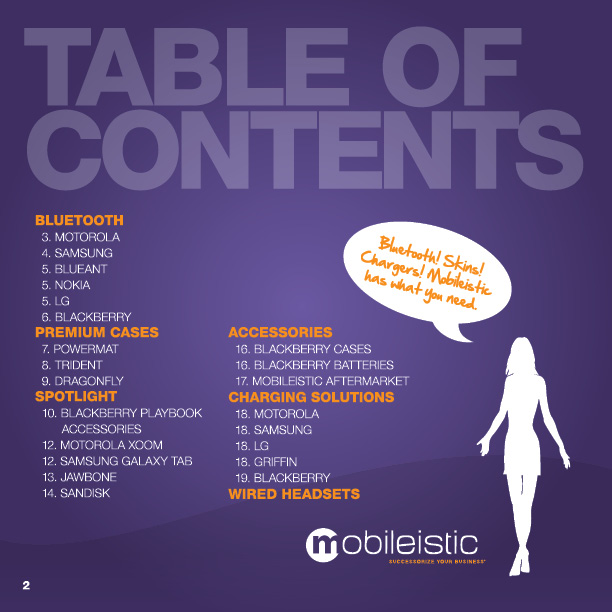 Mobileistic Table of Contents