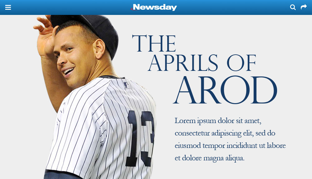 Newsday Aprils of Arod Preview