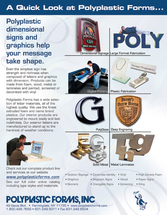 PolyPlastic Forms - flyer advertisement