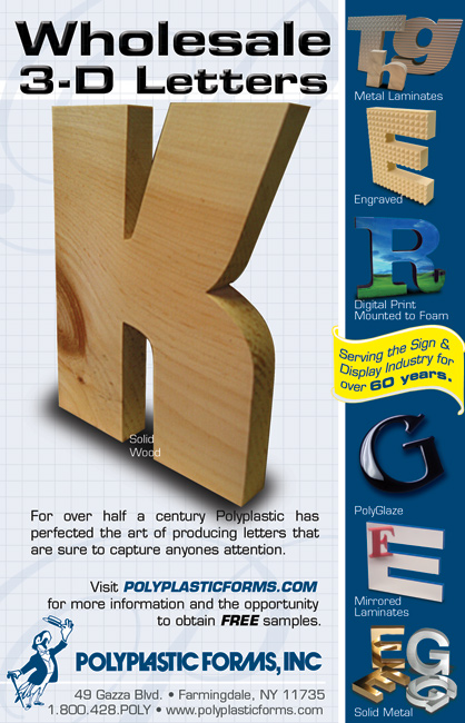 PolyPlastic Forms - 3D Wood Letters