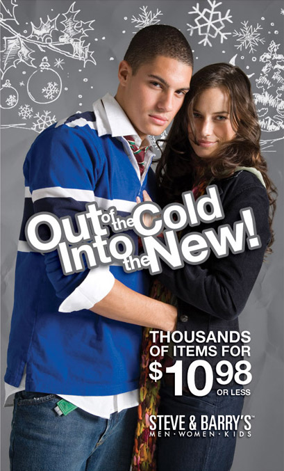 Steve & Barry's Winter Campaign, Out of the Cold Print Design 2