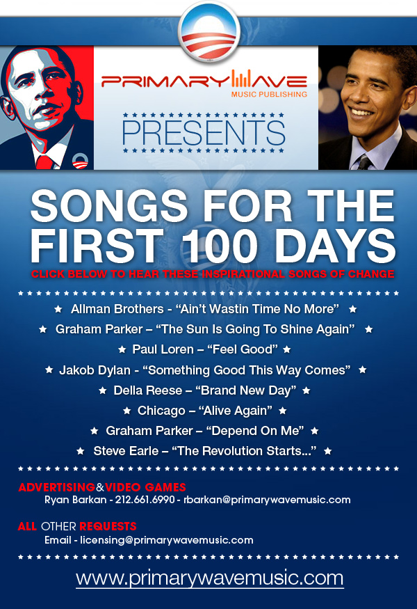 Songs of Change Obama Email Blast Web Design